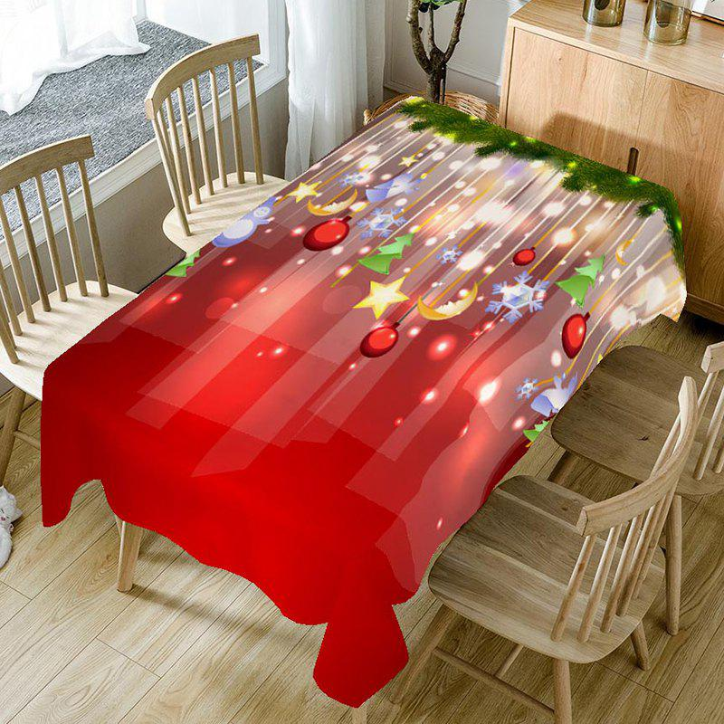 Best Christmas Ball Pattern Table Cloth