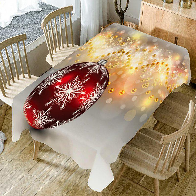 Latest Christmas Baubles Printed Table Cloth