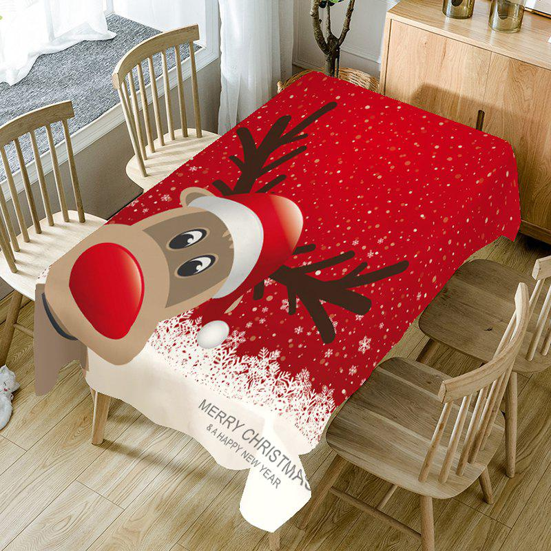 Hot Snowflakes Christmas Elk Patterned Table Cloth