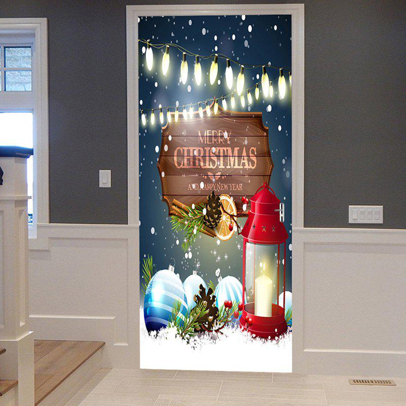 Outfits Christmas Lantern Baubles Pattern Door Cover Stickers