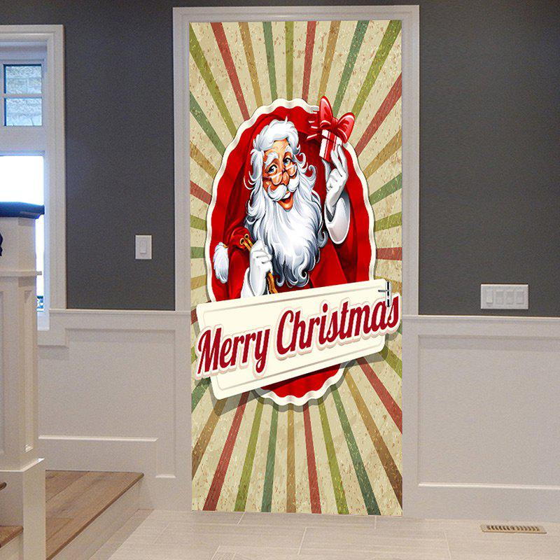 Hot Christmas Home Decor Santa Claus Printed Door Stickers