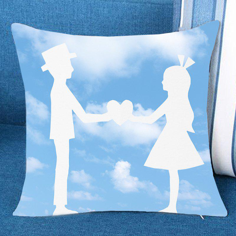 Outfit Blue Sky and Lover Print Pillow Case