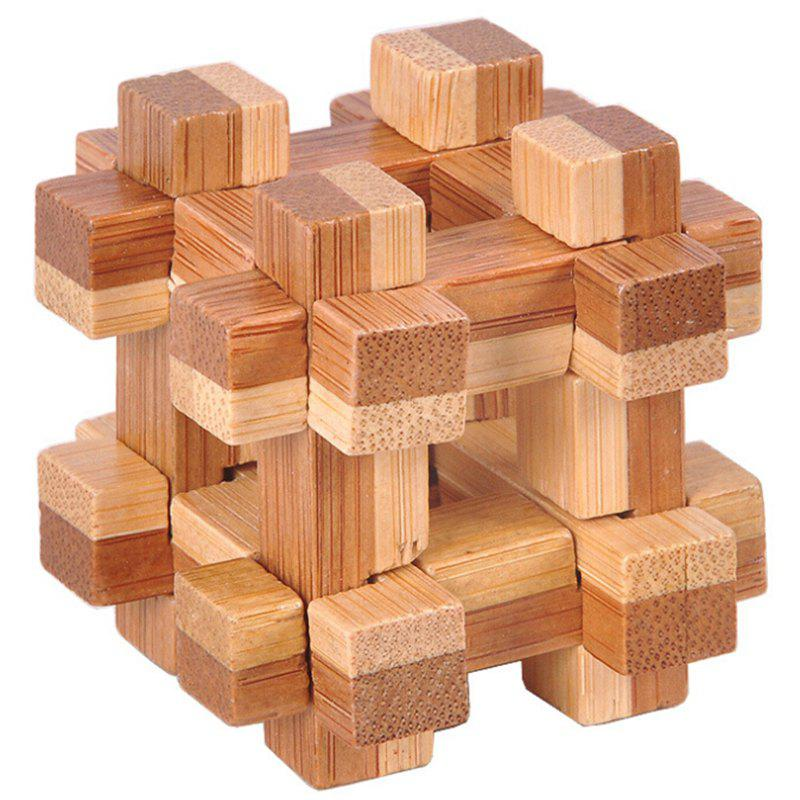 Tic-tac-toe Shape Wooden 3D Interlocking Puzzles Game Toy