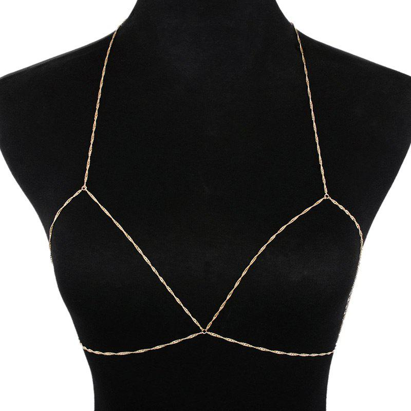 Outfits Simple Geometric Body Bra Chain