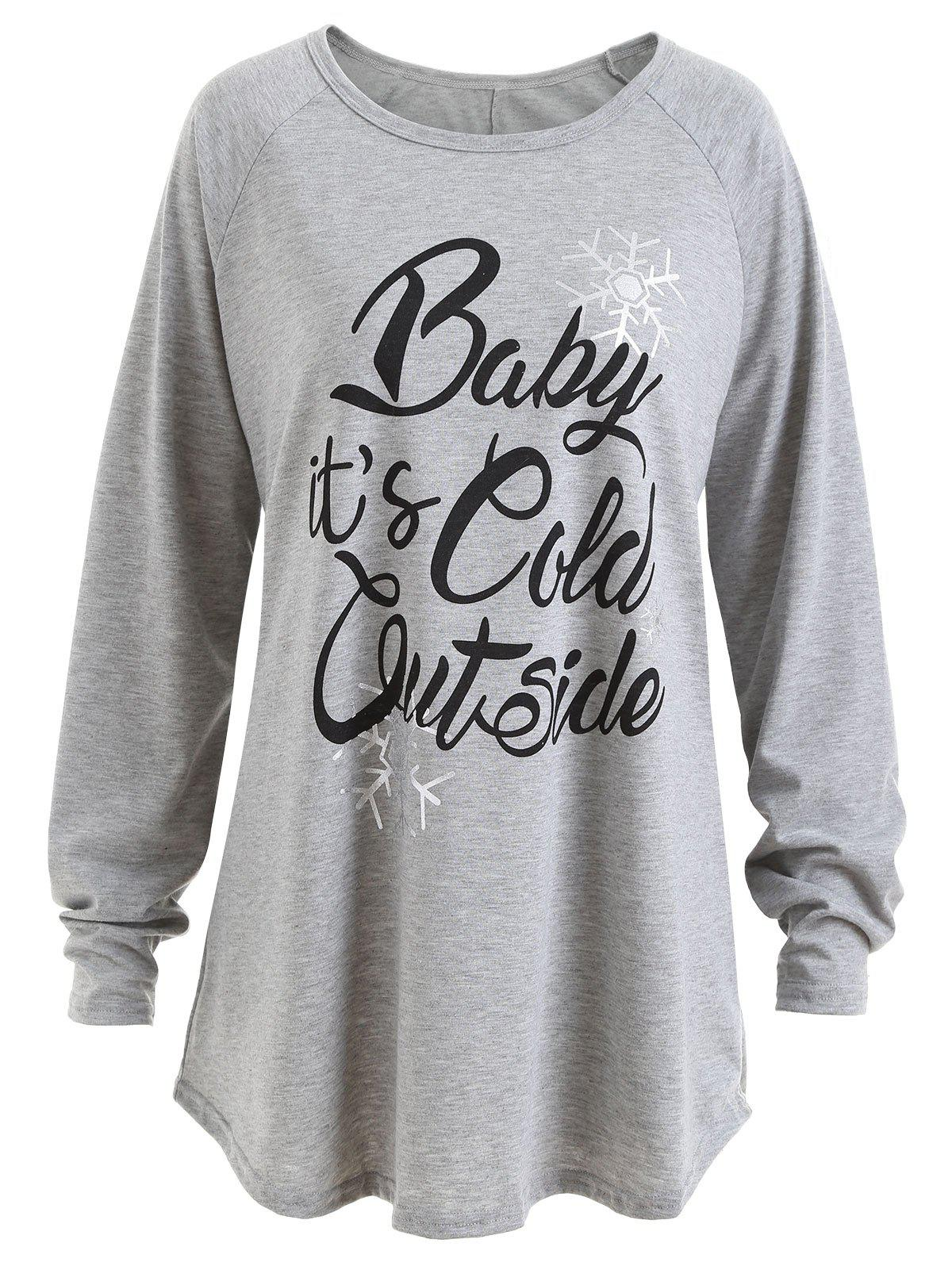59 Off Plus Size Baby Its Cold Outside Letter Christmas