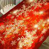 Christmas Snowflakes Print Fabric Dining Table Cloth -