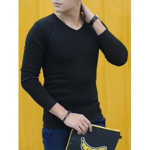 V-Neck Long Sleeve Thermal T-shirt -