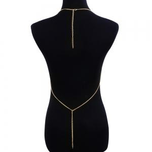 Gothic Fake Diamond Bra Bikini Body Chain -