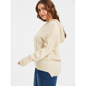 Plus Size High Low Hooded Sweater -