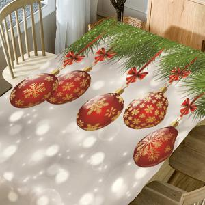 Christmas Snowflake Bauble Bubble Print Table Cloth -