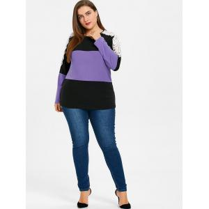 Plus Size Lace Embellished Sweatshirt -