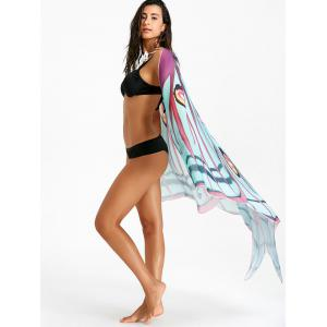 Sheer Chiffon Butterfly Printed Beach Throw -