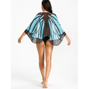 Printed Butterfly Wing Beach Cover Up -