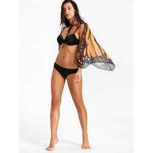 Butterfly Wing Chiffon Sheer Beach Cover Up -