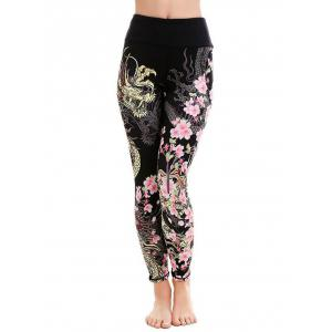 Floral Dragon Leggings -