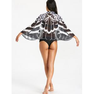 See Thru Printed Beach Cover Up -