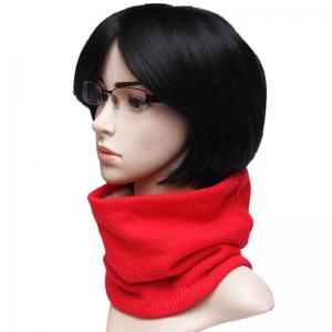 Outdoor Striped Pattern Thicken Knitted Infinity Scarf -