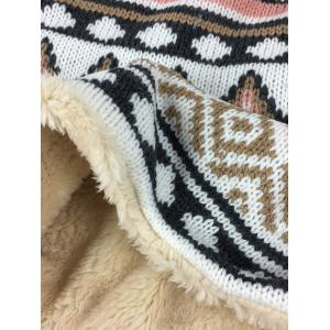 Outdoor Outdoor Ethnic Style Thicken Knitted Infinity Loop Scarf -