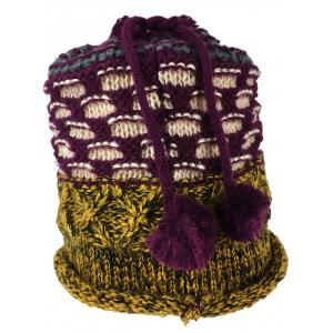 Outdoor Colormix Pattern Chunky Knitted Infinity Scarf -