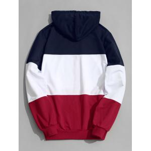 Zip Up Color Block Men Hoodie -