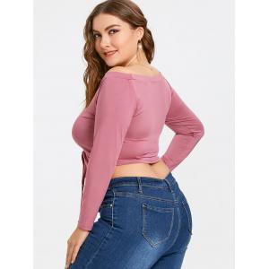 Off The Shoulder Cinched Plus Size Top -