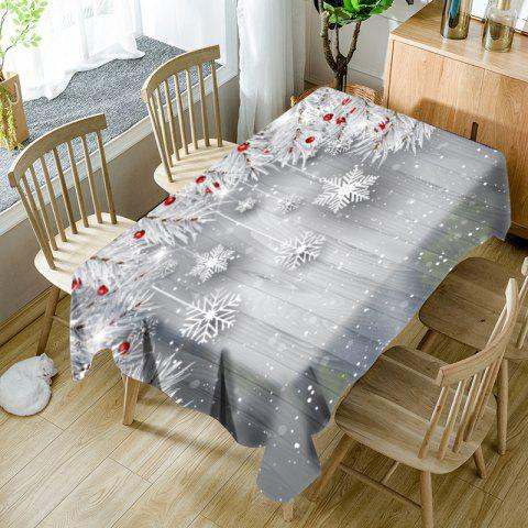 Fancy Christmas Snowflake Ornaments Printed Waterproof Table Cloth
