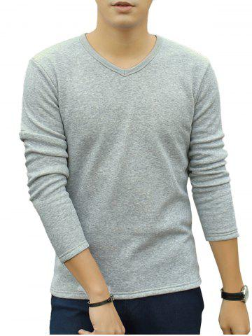 Hot V-Neck Long Sleeve Thermal T-shirt