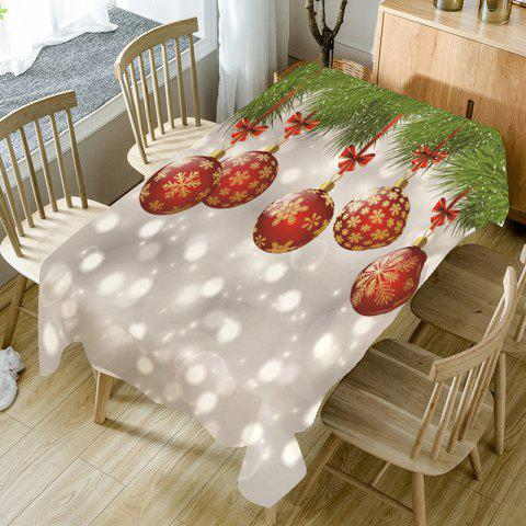 Best Christmas Snowflake Bauble Bubble Print Table Cloth