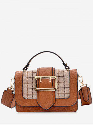 Best Plaid Color Block Crossbody Bag With Handle