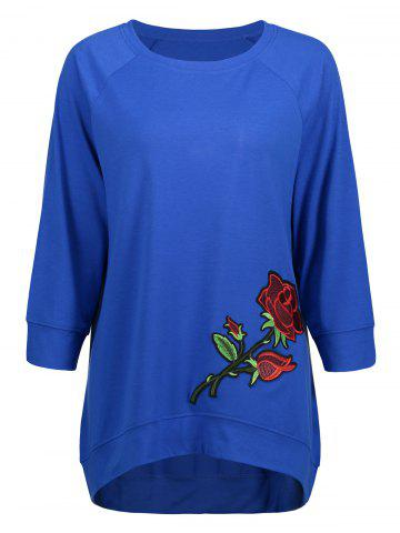 High Low Embroidery Sweatshirt