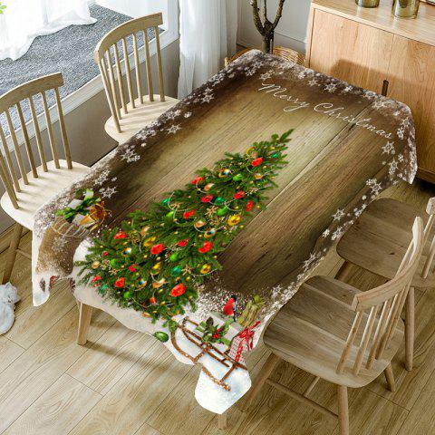 Store Christmas Tree Patterned Table Cloth
