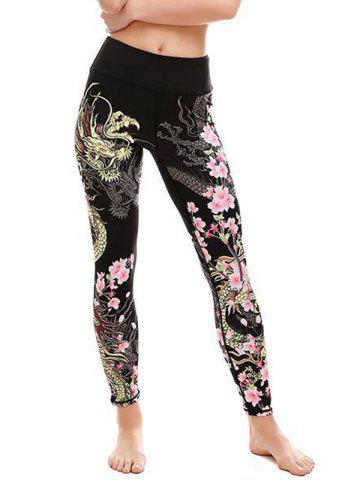 Unique Floral Dragon Leggings