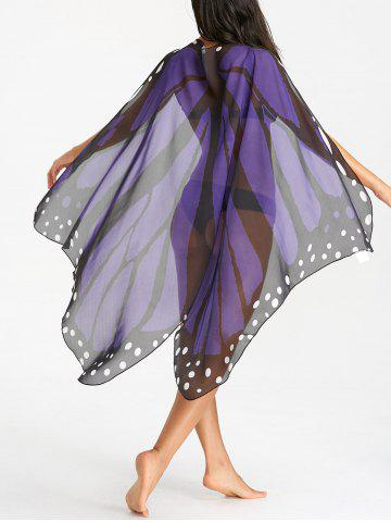 Trendy Butterfly Flowy Printed Beach Throw