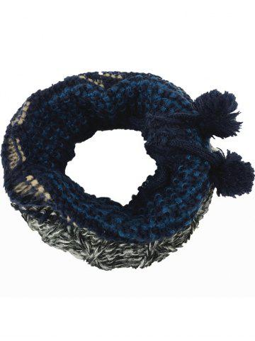 Unique Outdoor Colormix Pattern Chunky Knitted Infinity Scarf