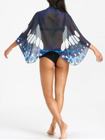 Outfit See Through Butterfly Print Beach Cover Up