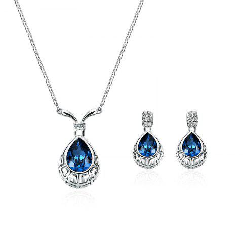 Cheap Water Drop Shape Faux Crystal Gem Jewelry Set