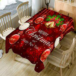 Nappe de Décoration de Table Imperméable Motif Inscription Merry Christmas -
