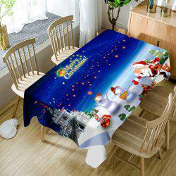 Cartoon Outdoor Christmas Party Printed Waterproof Table Cloth -