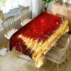 Abstract Christmas Tree Print Fabric Waterproof Table Cloth -