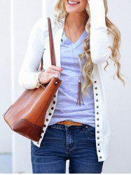 Plain Button Up Cardigan -