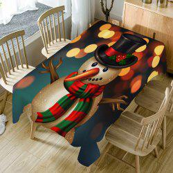 Christmas Long Nose Snowman Patterned Table Cloth -