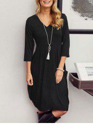 V-neck Casual Baggy Dress -