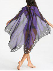 Butterfly Flowy Printed Beach Throw -