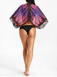 Beach Butterfly Print Cover Up -