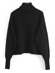 Turtleneck Pullover Sweater with Pockets -