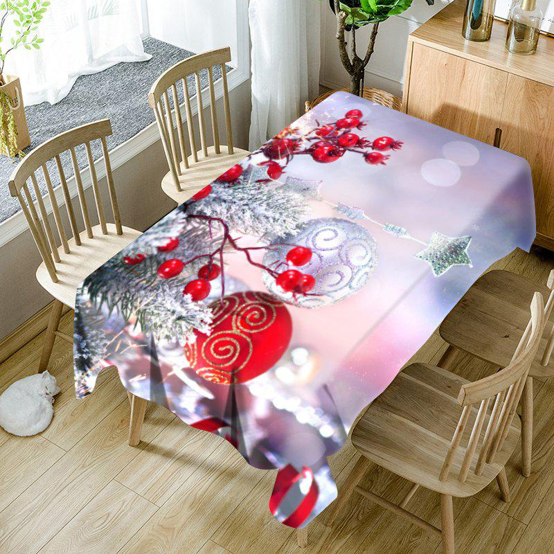 Nappe de Table Imperméable Motif Boules Ornements de Noël