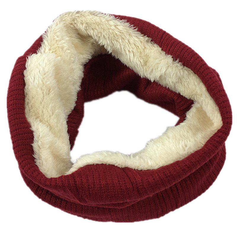 Hot Outdoor Striped Pattern Thicken Knitted Infinity Scarf
