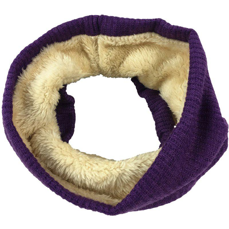 Store Outdoor Striped Pattern Thicken Knitted Infinity Scarf