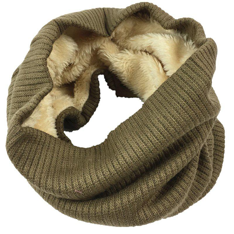 Fashion Outdoor Striped Pattern Thicken Knitted Infinity Scarf