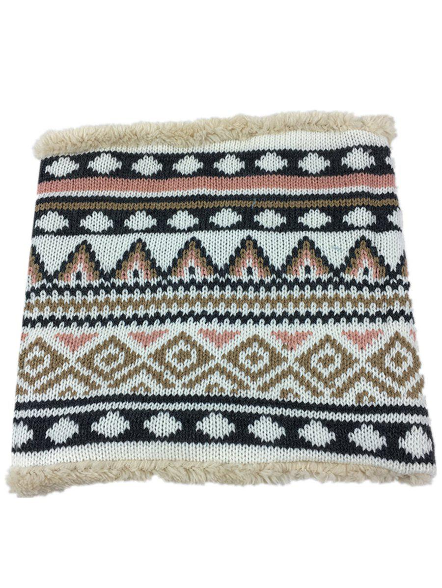 Fancy Outdoor Outdoor Ethnic Style Thicken Knitted Infinity Loop Scarf